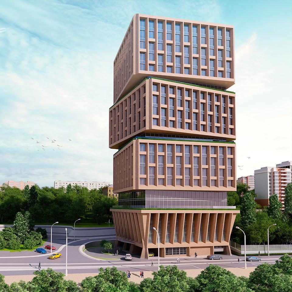 3D-визуализация клубного дома «Гранд Панорама»